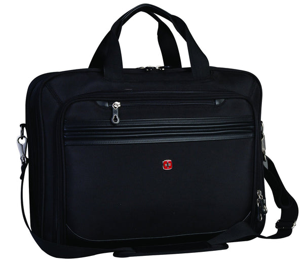Swiss Gear Expandable Laptop Case - From 13 Inch to 17.3 Inch - Black