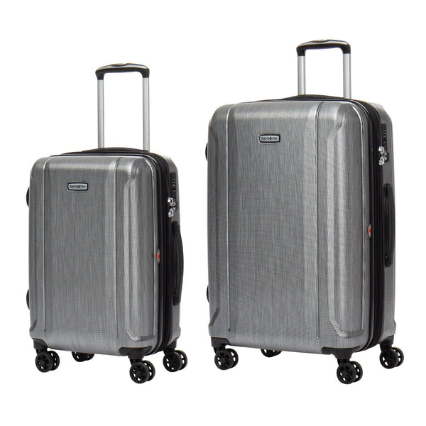 Samsonite Omni 3.0 - 2 Piece Spinner Expandable Luggage Set (Carry-On & Medium) - Brushed Silver