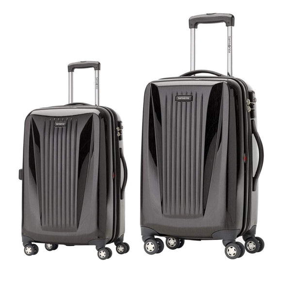 Samsonite Omni Lite 2.0 - 2 Piece Hardside Spinner Luggage Set - Carry-On and Medium - Brushed Charcoal