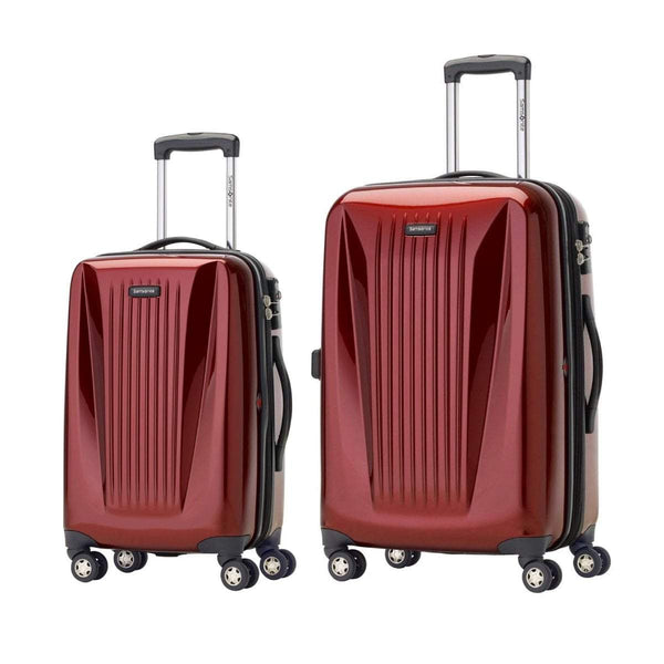 Samsonite Omni Lite 2.0 - 2 Piece Hardside Spinner Luggage Set - Carry-On and Medium - Dark Red
