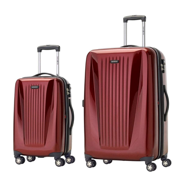 Samsonite Omni Lite 2.0 - 2 Piece Hardside Spinner Luggage Set - Carry-On and Large - Dark Red