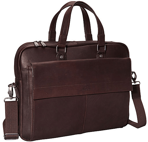 Mancini COLOMBIAN Collection Slim Briefcase for Laptop and Tablet - Brown