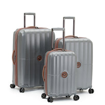 Delsey St. Maxime 3 Piece Polycarbonate Expandable Spinner Luggage Set
