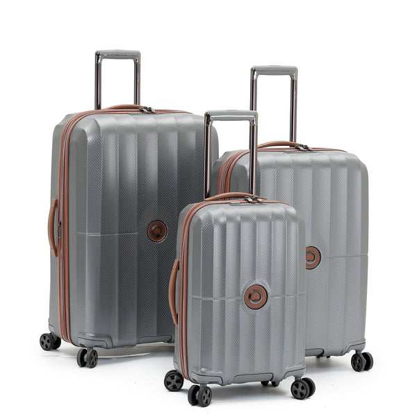 Delsey St. Maxime 3 Piece Expandable Spinner Luggage Set - Grey