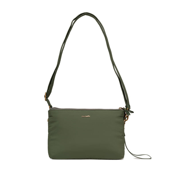 Pacsafe Stylesafe Anti-Theft Double Zip Crossbody Bag - Kombu Green
