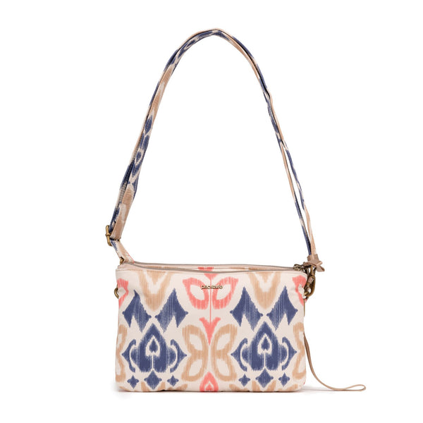 Pacsafe Stylesafe Anti-Theft Double Zip Crossbody Bag - Ikat Coral