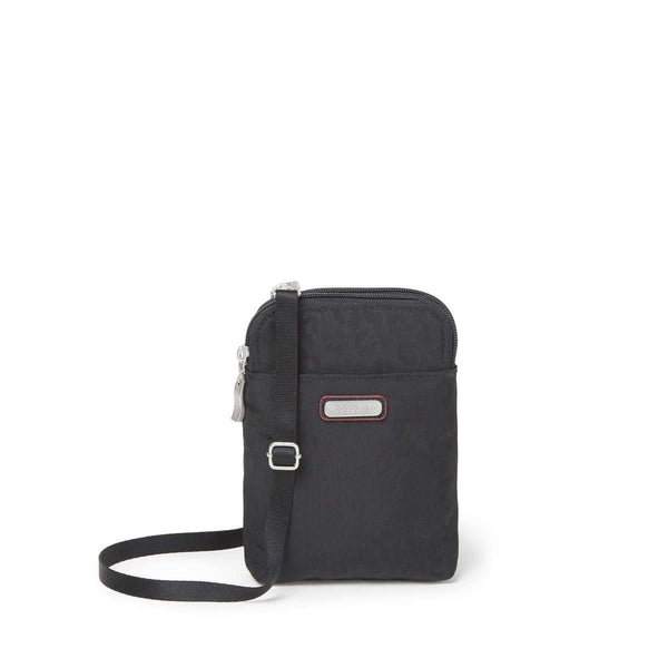 Baggallini Take Two RFID Bryant Crossbody - Black Cheetah