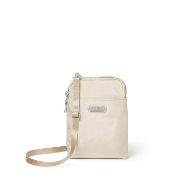 Baggallini Take Two RFID Bryant Crossbody - Champagne Shimmer