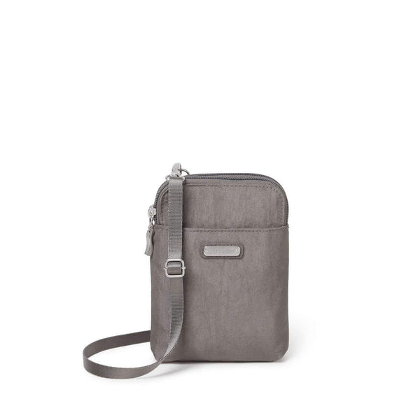 Baggallini Take Two RFID Bryant Crossbody - Sterling Shimmer