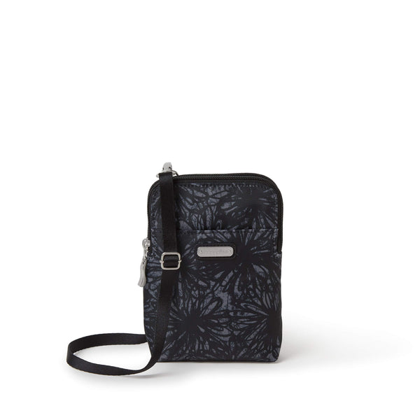 Baggallini Take Two RFID Bryant Crossbody - Onyx Floral