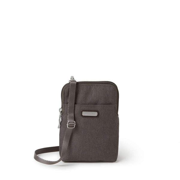 Baggallini Take Two RFID Bryant Crossbody - Dark Umber
