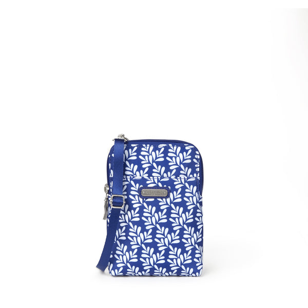Baggallini Take Two RFID Bryant Crossbody - Cobalt Tile