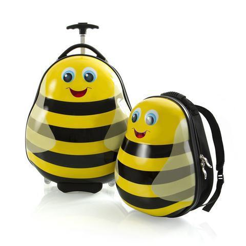 Heys Travel Tots Lightweight 2 Piece Kids Luggage & Backpack Set - Bumble Bee