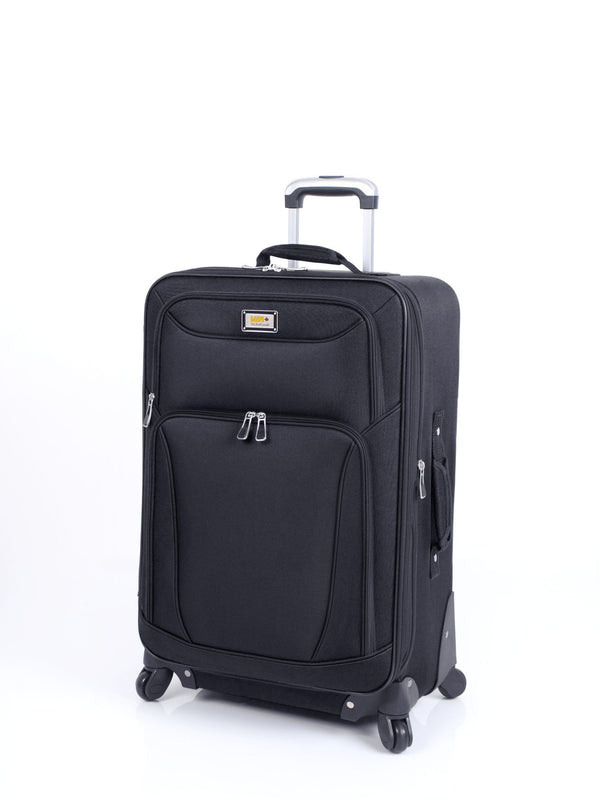 Via Rail Brentwood Bay 2.0 24 Inch Expandable Spinner Luggage - Black