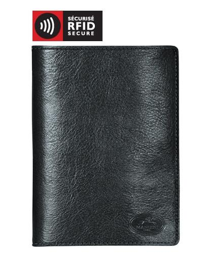 Mancini EQUESTRIAN-2 Collection Deluxe Passport Wallet - Black