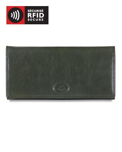 Mancini EQUESTRIAN-2 Collection Ladies' Trifold Wallet (RFID Secure) - Black