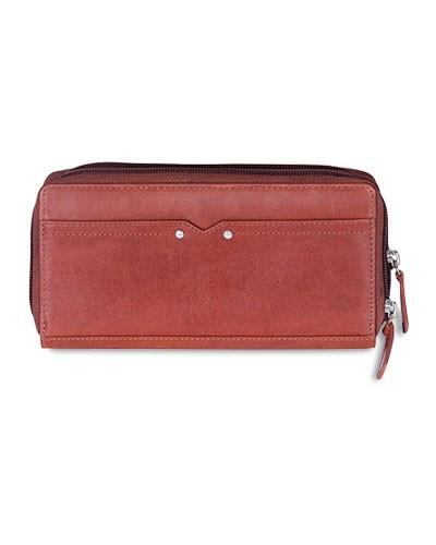 "CASABLANCA Collection Ladies' Double Zipper ""Clutch"" Wallet (RFID Secure)"