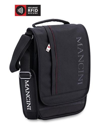 Mancini BIZTECH Collection Crossover Bag for Tablet and E-Reader - Black