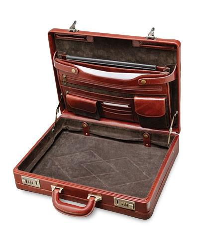 Mancini SIGNATURE Collection Luxurious Expandable Attaché Case