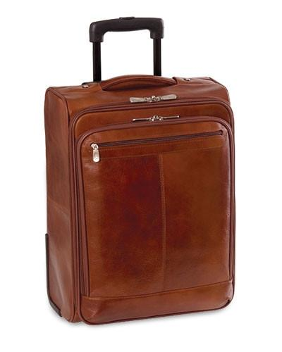 Mancini SIGNATURE Collection Overnight Laptop and Tablet Case on Wheels - Brown