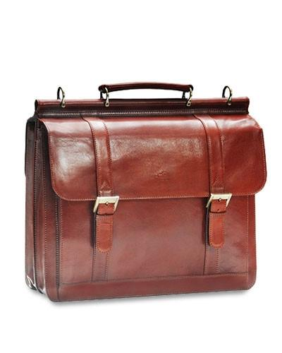 Mancini SIGNATURE Collection (Flap) Briefcase for Laptop and Tablet - Brown