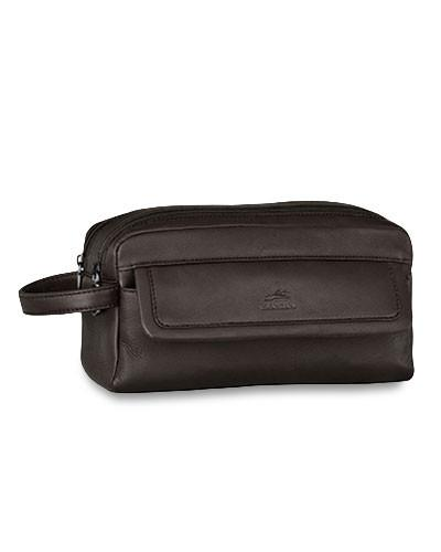 Mancini COLOMBIAN Collection Double Compartment Toiletry Kit - Black