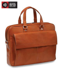 Mancini COLOMBIAN Collection Slim Briefcase for Laptop and Tablet