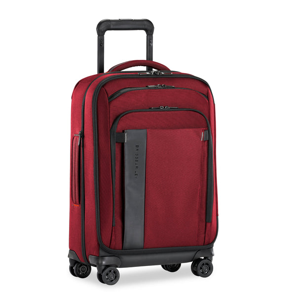 "Briggs & Riley ZDX 22"" Carry-On Expandable Spinner Luggage - Brick"