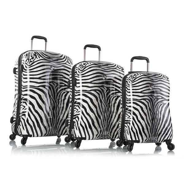 Heys Zebra Equus 3 Piece Fashion Spinner Luggage Set