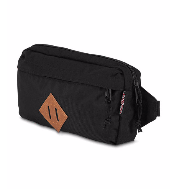 Jansport Waisted Hip Bag - Black Ballistic Nylon