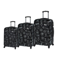 Mia Toro Love This Life - Medallions 3 Piece Expandable Spinner Upright Luggage Set