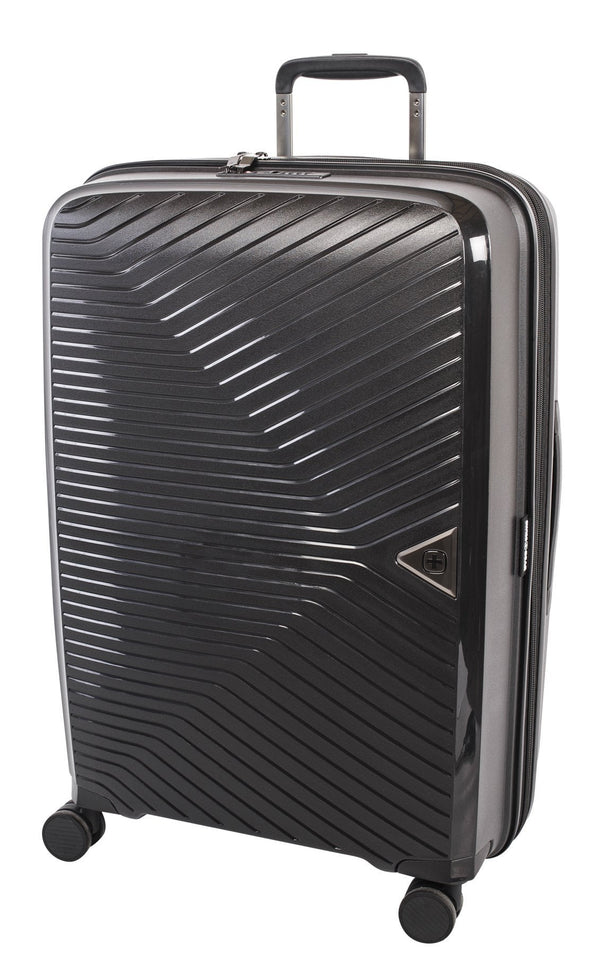 Swiss Gear Ultra-Lite Polypropylene 24 Inch Expandable Upright Luggage - Black