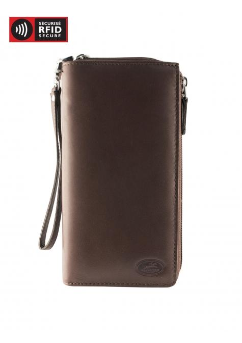 Mancini MANCHESTER Ladies' Trifold Wallet (RFID Blocking) - Brown