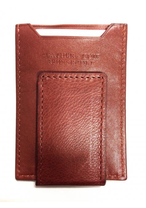Mancini Manchester Deluxe Leather Bill Clip