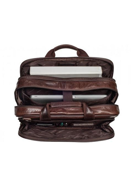 Mancini Biztech Compucase2- Double Compartment Briefcase for Laptop and Tablet