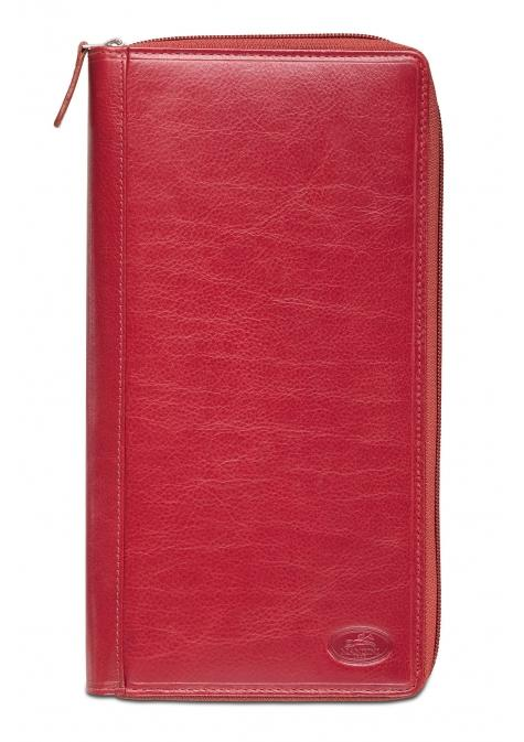 Mancini EQUESTRIAN-2 Collection Deluxe Passport / Travel Organizer - Red
