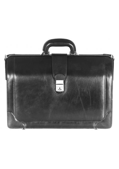 Mancini SIGNATURE Collection Laptop Compatible Litigator Briefcase - Black