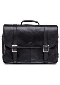 Mancini ARIZONA Double Compartment Leather Briefcase for 15.6 Inch Laptop / Tablet