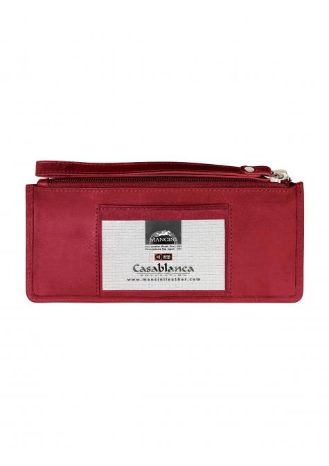 "Mancini CASABLANCA Collection Ladies' "" Wristlet"" (RFID Secure)"