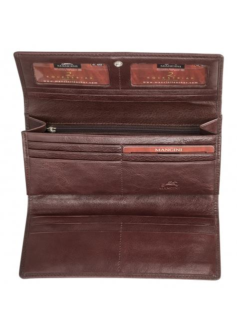 Mancini EQUESTRIAN-2 Collection Ladies' Trifold Wallet (RFID Secure)