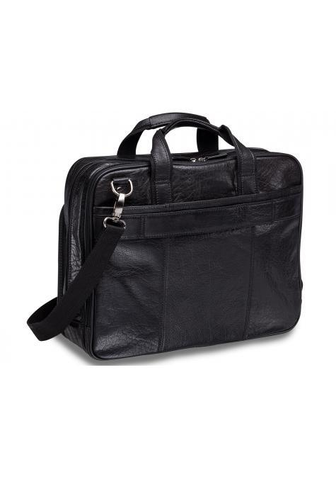 Mancini ARIZONA Double Compartment Briefcase for 15.6 Inch Laptop / Tablet