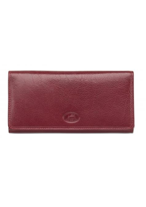 Mancini EQUESTRIAN-2 Collection Ladies' Trifold Wallet (RFID Secure) - Red