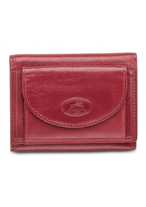 Mancini EQUESTRIAN-2 Men's Trifold Wing Wallet - Red