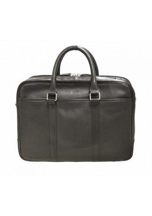 Mancini COLOMBIAN Double Zippered Compartments RFID Secure Briefcase