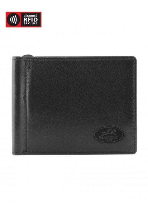 Mancini MANCHESTER Men's I.D. Single Bill Clip - Black