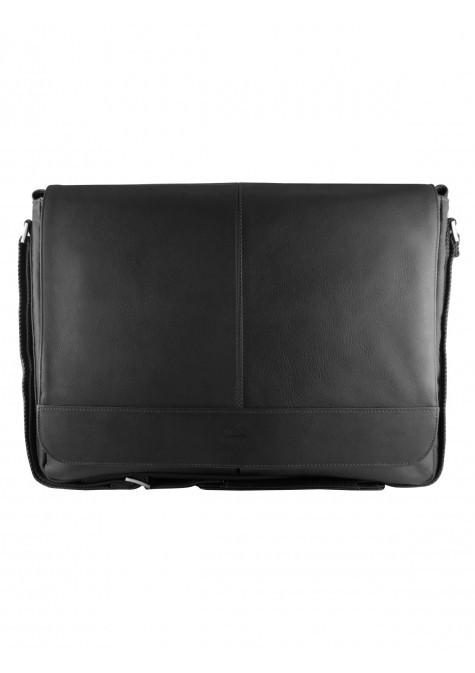 Mancini COLOMBIAN Collection Laptop and Tablet Messenger Bag - Black