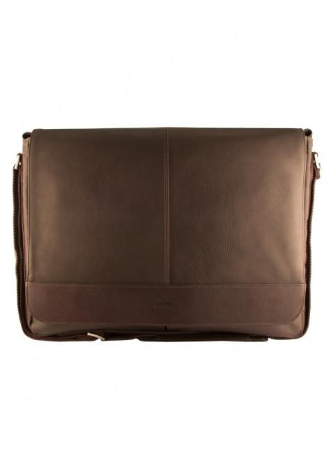 Mancini COLOMBIAN Collection Laptop and Tablet Messenger Bag - Brown