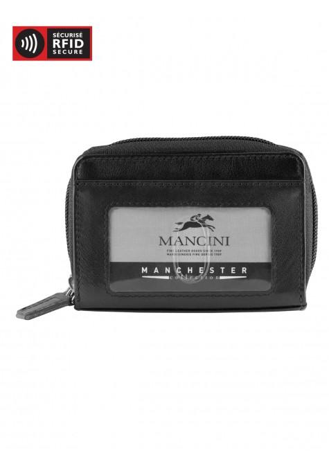 Mancini MANCHESTER Accordion Credit Card Case - Black