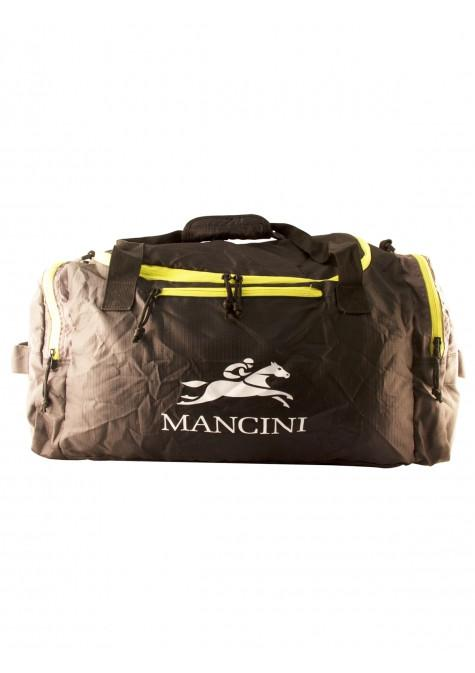 Mancini Pack 'Em In Travel Packable Duffle Bag - Black