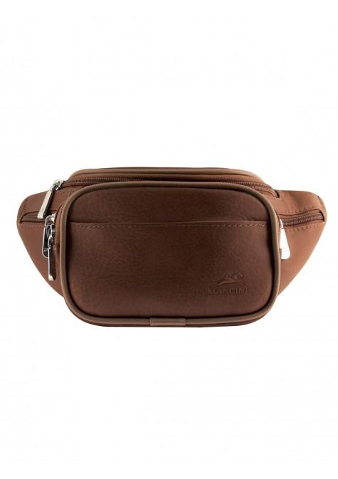 Mancini COLOMBIAN Collection Classic Waist Bag - Brown